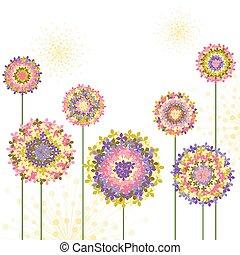 Springtime farbenfrohe Hydrangea-Blume.