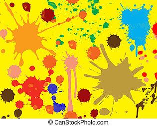 spritzen, vektor, farbe