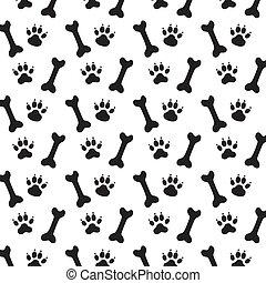 Spuren von Hunden.
