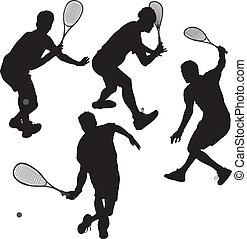 Squash Spieler
