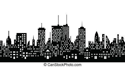 städtischer skyline, stadt