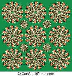 Ständige Rotation Illusion