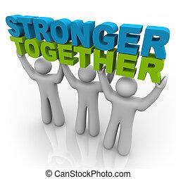 Stärker zusammen - die Worte heben