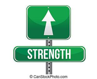 Stärkes Straßenschild, Illustration