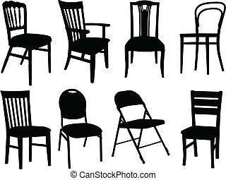 Stühle sammeln - Vektor.