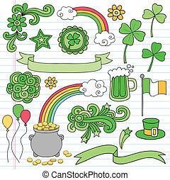 St Patricks Day Doodles Icon Vektor.