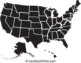 staaten, landkarte, vereint