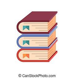 Stack-Bücher, weißer Hintergrund.