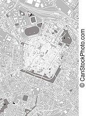 stadt, emilia-romagna, modena, landkarte, italien