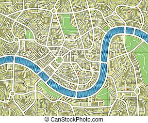 stadt, namenlos, landkarte