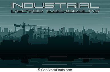 Stadtbauindustrie. Stadtlandschaft
