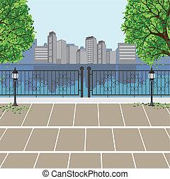 Stadtbesichtigung im öffentlichen Park