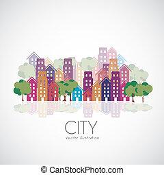 Stadtgebäude Silhouettes