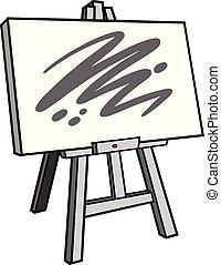 staffelei, kunst, abbildung