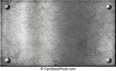 Stahl oder Aluminium oder Aluminium-Metalplatte mit Nieten