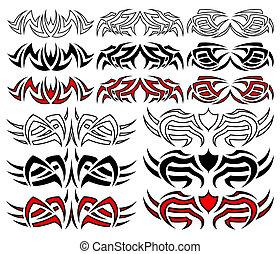 Stammes-Tattoopack, Vektor