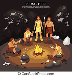 Stammesmenschen illustrieren.