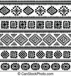 Stammestypische ethnische Muster nahtlos.
