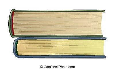 Stapel alter Bücher. Realistische Seiten. Buchseite. Symbol mit Deckung. Isolierte realistische Illustration