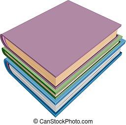 Stapel Bücher isometrische Projektion