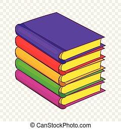 Stapel Bücher, Zeichentrickfilm.