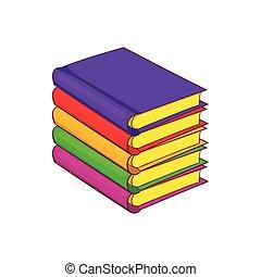 Stapel Bücher, Zeichentrickfilm
