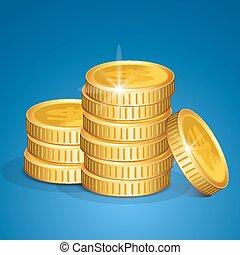 Stapel Münzen - Vektorgeld.