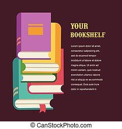 Stapel von Bücher Konzept Design.