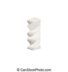 Stapel von Büchern Icon, isometrische 3D-Stil