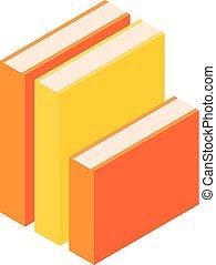 Stapel von Büchern Ikonen, isometrischen Stil