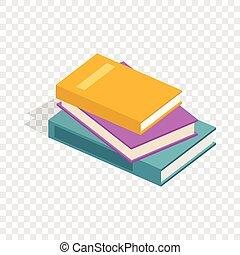 Stapel von Büchern isometrische Ikonen.