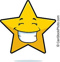 Star lächelt