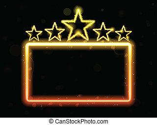 Star Neon-Filmzeichen mit Kopie