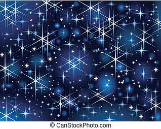 Starbright sky, Christmas funkel