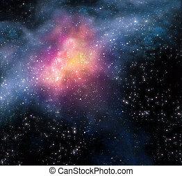 Starrer Hintergrund des Weltraums