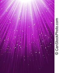 Stars auf lila gestreiftem Hintergrund. EPS 8