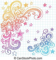 Stars doodle-Element