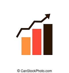 statistik, strategie, diagramm, ikone, wachstum, geschaeftswelt