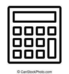 statistisch, ikone, taschenrechner
