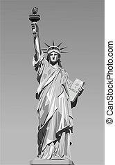 statue, freiheit