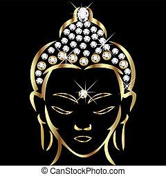 status, buddha, gold