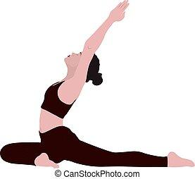 stehende , radzhakapotasana, frauengesichter, leer, gesichtslos, pada, gefuehle, leerer , asana, junger, joga