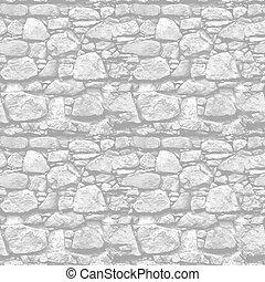 Steinmauer - nahtloser Vektor realistischer Hintergrund