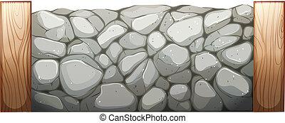 Steinmauer.