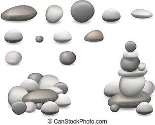 Steinplatten sind isoliert