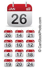 Stell 12 Kalender auf