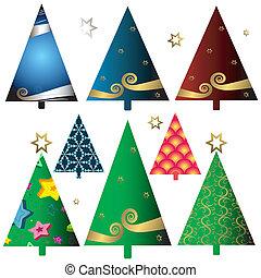 Stell Weihnachtsbäume