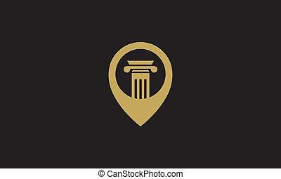 stellen, ikone, stift, design, abbildung, landkarte, vektor, symbol, gesetz, logo, säule