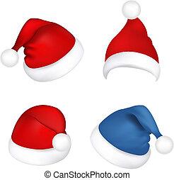 Stellen Sie Santa Claus Hüte