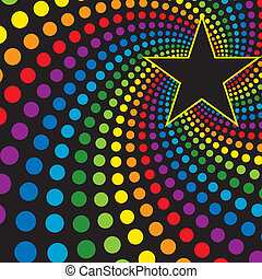 Stern mit Regenbogen